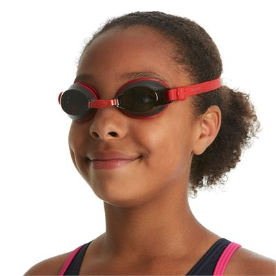 Speedo Jet Junior Swimming Goggles - Red - In Use2