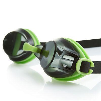 Speedo Jet Swimming Goggles - Green/Smoke - In Use