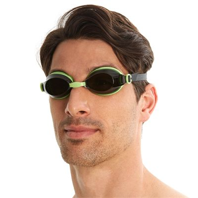 Speedo Jet Swimming Goggles - Green/Smoke - In Use1
