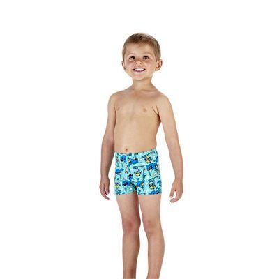 Speedo Jetspark Allover Infant Boys Aquashorts Side