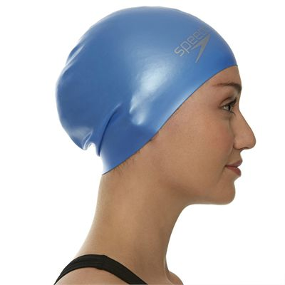 Speedo Long Hair Swimming Cap - Blue - Side