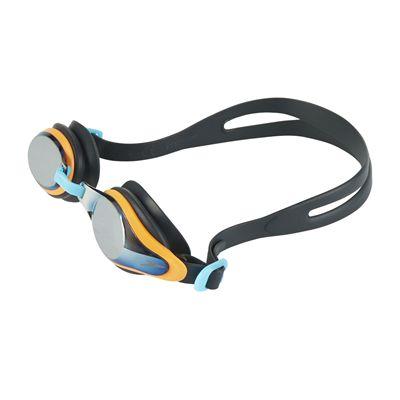 Speedo Mariner Supreme Mirror Junior Swimming Goggles - Black - Front