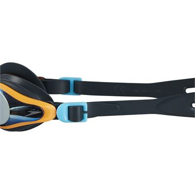 Speedo Mariner Supreme Mirror Junior Swimming Goggles - Black - Side