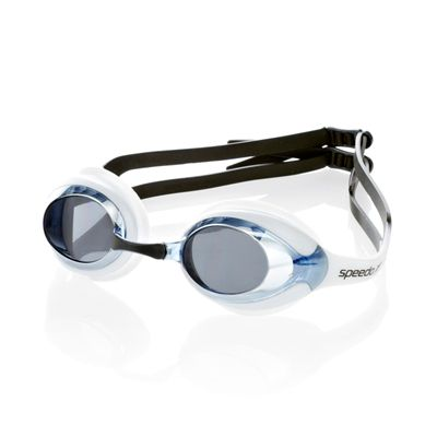 Speedo Merit Mirrored Swimming Goggles-Blue-White