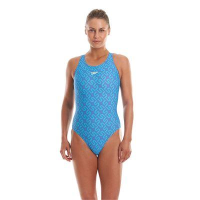 Speedo Monogram Allover Muscleback Ladies Swimsuit