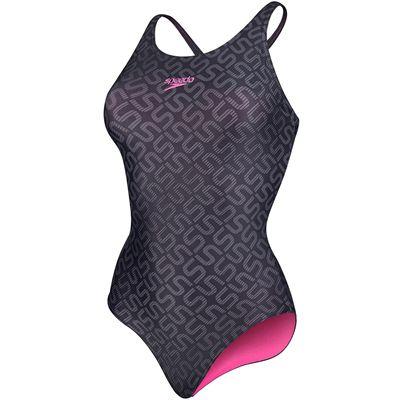 Speedo Monogram Allover Muscleback Swimsuit