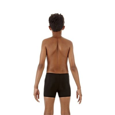 Speedo Monogram Boys Aquashorts Black Green Back