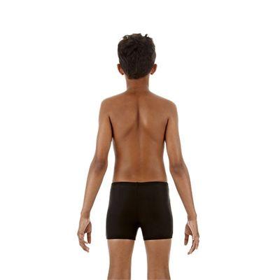 Speedo Monogram Boys Aquashorts Black White Back