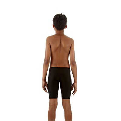 Speedo Monogram Boys Jammer Black Orange Back