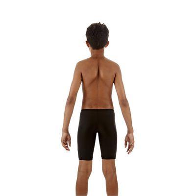 Speedo Monogram Boys Jammer Black White Back