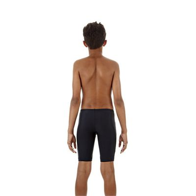 Speedo Monogram Boys Jammer Navy Blue Back