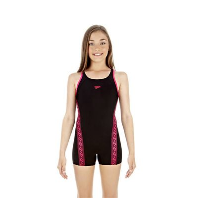 Speedo Monogram Girls Legsuit
