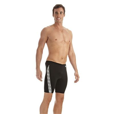 Speedo Monogram Mens Jammer Black White