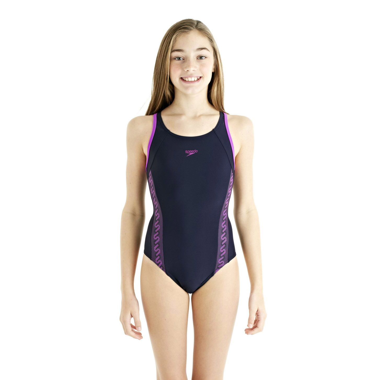 Speedo Monogram Muscleback Girls Swimsuit Ss13 Sweatband Com