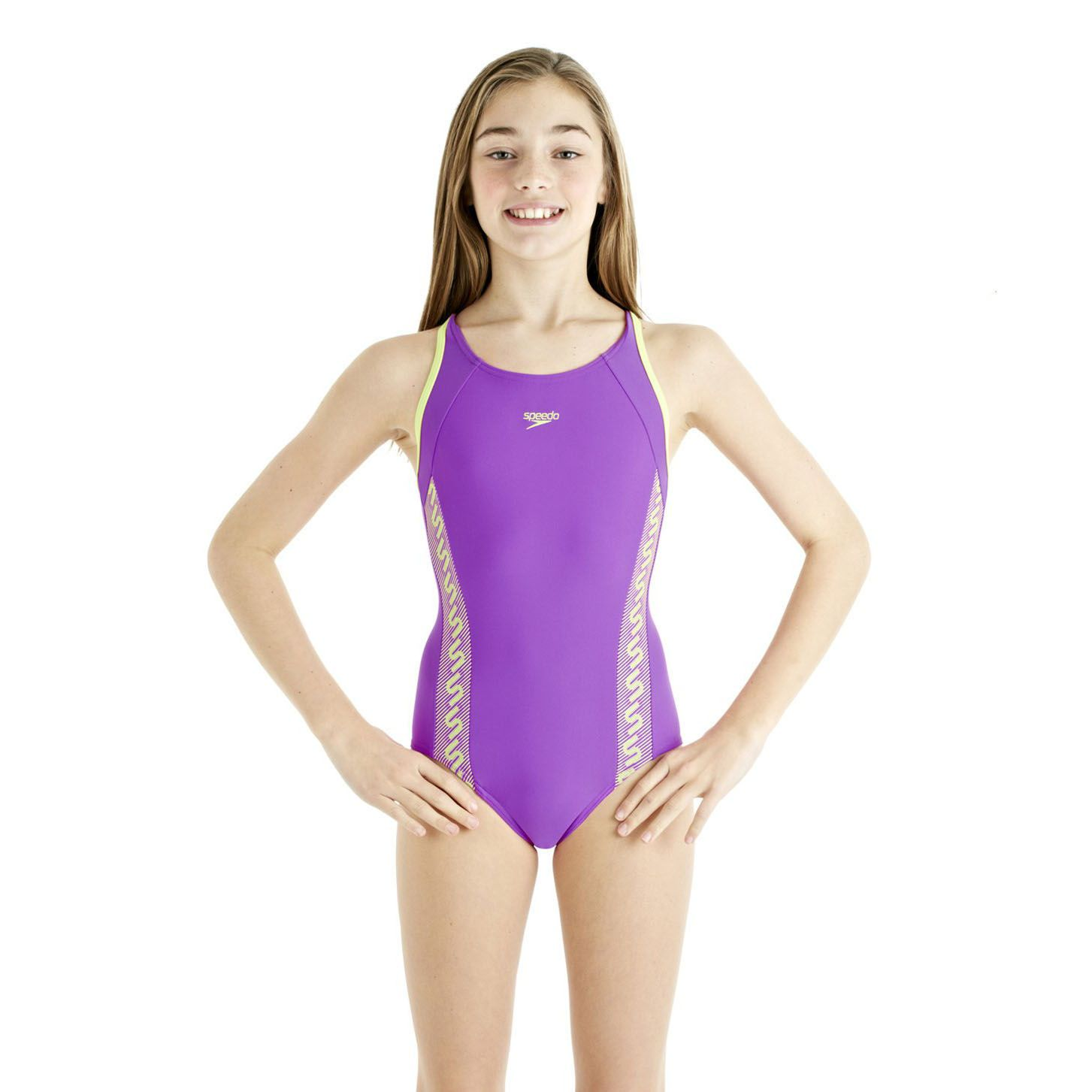 speedo monogram muscleback girls swimsuit ss13