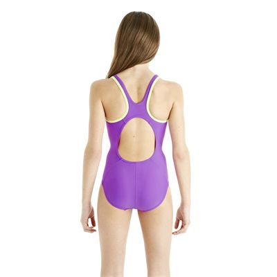 Speedo Monogram Muscleback Girls Swimsuit AW13 purple back