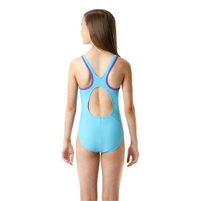 Speedo Monogram Muscleback Girls Swimsuit SS14 - Back View