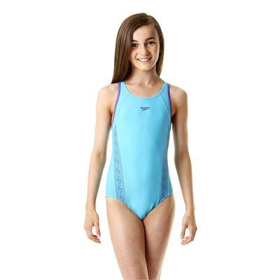 Speedo Monogram Muscleback Girls Swimsuit SS14