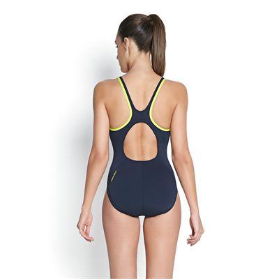 Speedo Monogram Muscleback Ladies Swimsuit - Back View