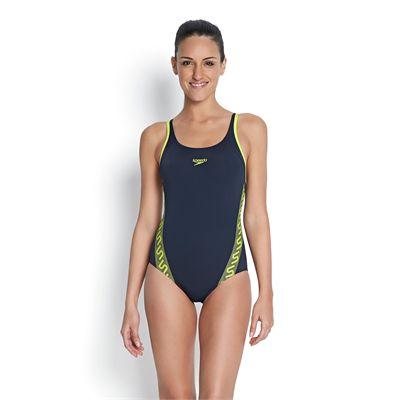 Speedo Monogram Muscleback Ladies Swimsuit - Front View