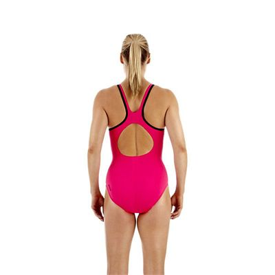 Speedo Monogram Muscleback Ladies Swimsuit SS13 Pink back