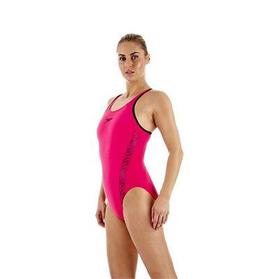 Speedo Monogram Muscleback Ladies Swimsuit SS13 Pink side