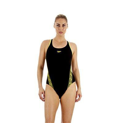 Speedo Monogram Muscleback Ladies Swimsuit SS13 Yellow