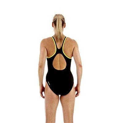 Speedo Monogram Muscleback Ladies Swimsuit SS13 Yellow back