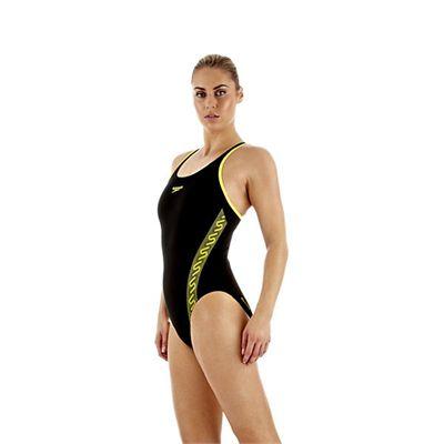 Speedo Monogram Muscleback Ladies Swimsuit SS13 Yellow side