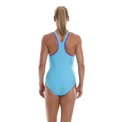 Speedo Monogram Racerback Ladies Swimsuit - Blue Back View