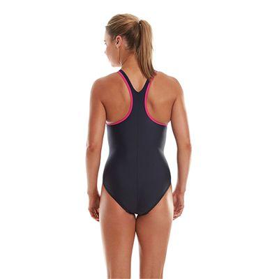 Speedo Monogram Racerback Ladies Swimsuit - Navy Back View