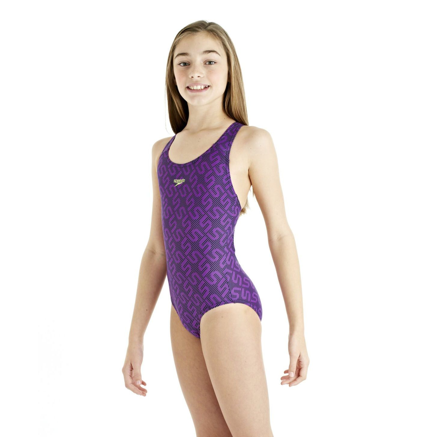 speedo monogram splashback girls swimsuit
