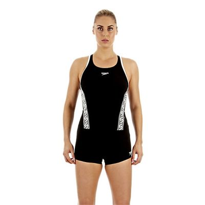 Speedo Monogram Tankini Boyleg Ladies Swimsuit