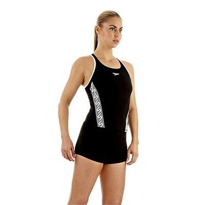 Speedo Monogram Tankini Boyleg Ladies Swimsuit Side