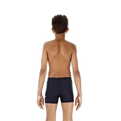 Speedo MotionKick Placement Panel Boys Aquashort Speedo MotionKick Placement Panel Boys Aquashort Back