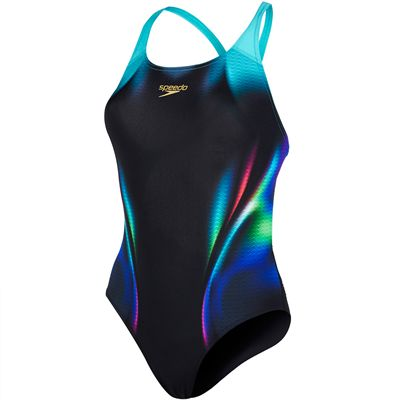 Speedo Placement Digital Powerback Ladies Swimsuit