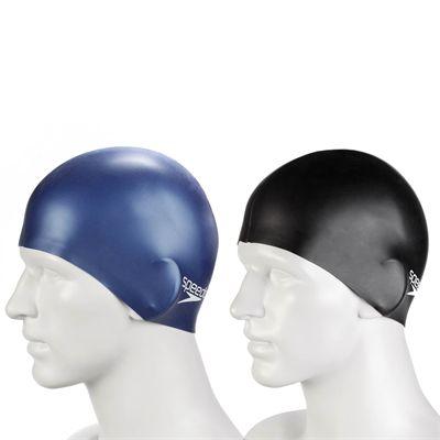 Speedo Plain Flat Silicone Cap - Caps