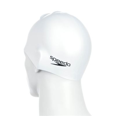 Speedo Plain Moulded Silicone Cap - Back