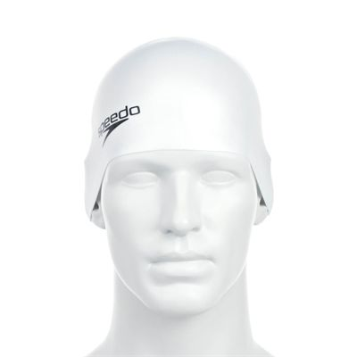 Speedo Plain Moulded Silicone Cap - Front