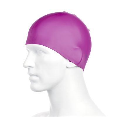 Speedo Plain Moulded Silicone Cap -Purple Side View