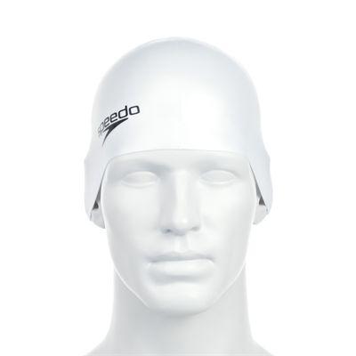 Speedo Plain Moulded Silicone Cap -White