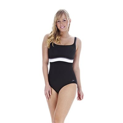Speedo Premier Contour 1 Piece Ladies Swimsuit Black White