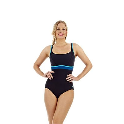 Speedo Premier Contour 1 Piece Ladies Swimsuit Navy Blue