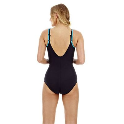 Speedo Premier Contour 1 Piece Ladies Swimsuit Navy Blue back