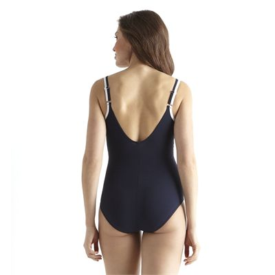 Speedo Premiere Contour 1 Piece Swimsuit - Navy/Blue - Back View