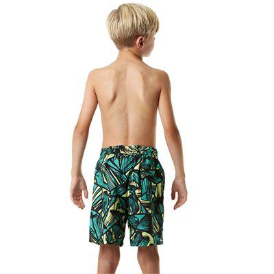Speedo Printed Leisure 15 Inch Boys Watershorts - Back