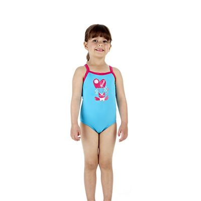 Speedo Rainmelody Thinstrap 1 Piece Infant Girls Swimsuit