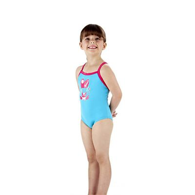 Speedo Rainmelody Thinstrap 1 Piece Infant Girls Swimsuit Side