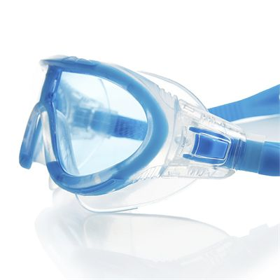 Speedo Rift Junior Swimming Goggles - Blue and Clear Side View
