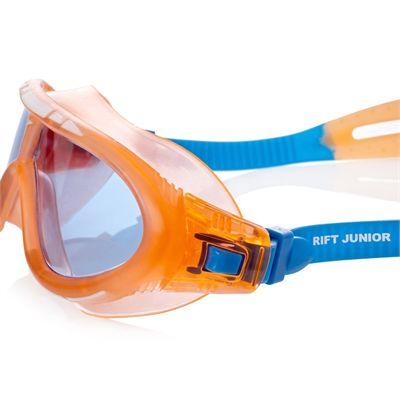 Speedo Rift Junior Swimming Goggles - Orange and Blue Side View